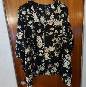 Floral cape jacket